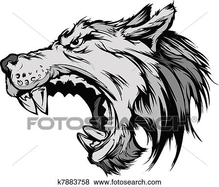 Wolf Clip Art Illustrations. 8,203 wolf clipart EPS vector ...