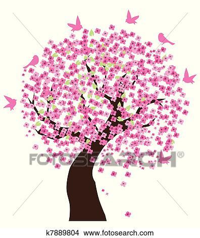 剪贴画 樱桃树图片