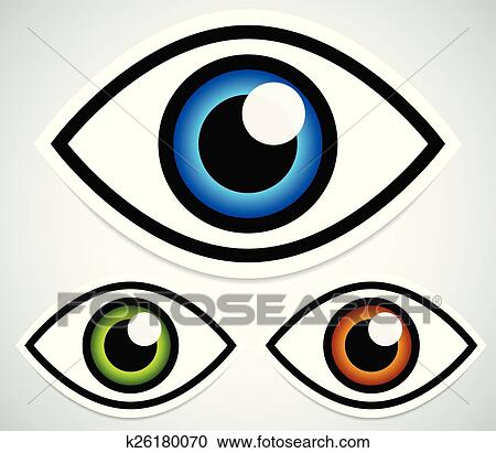 clipart of simple eye stickers with highlight and shadow k26180070 rh fotosearch com travel stickers clipart sticker clipart free