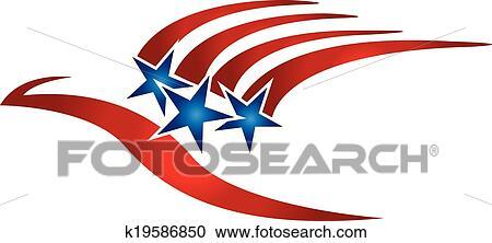 clipart of bird usa flag logo k19586850 search clip art rh fotosearch com us flag logo hat usa flag coloring sheet