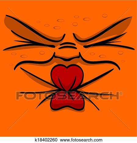 Pucker Face Clipart Clipart Sour Squint Pucker