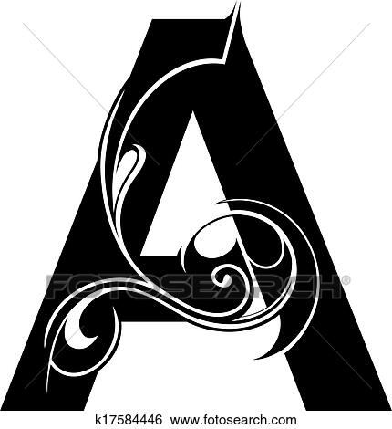 Decorative Letter Shape Isolated Font Type A