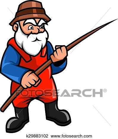 clipart of old fisherman k29883102 search clip art illustration rh fotosearch com fisherman clipart free fisherman clipart black and white