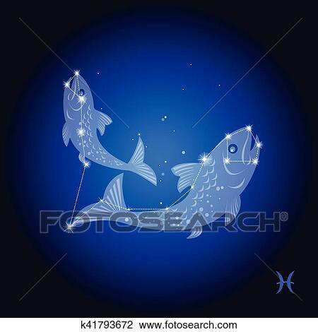 剪贴画 - 双鱼座, 星座