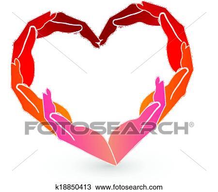 Clipart mani cuore rosso logotipo k18850413 cerca for Clipart cuore