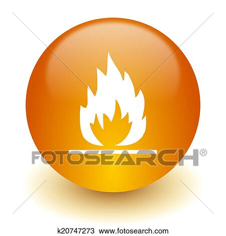 手绘图 - 火焰, 图标