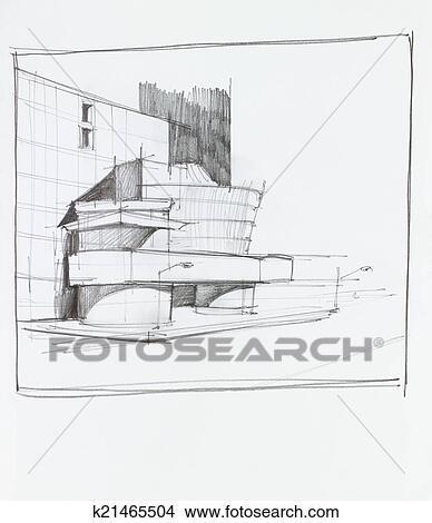 北京现代建筑简笔画