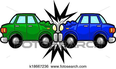 clip art of car accident cartoon k18667236 search clipart rh fotosearch com free clipart car crash Car Collision Clip Art