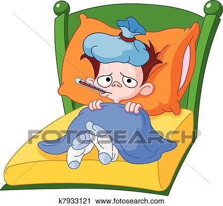 clipart krank kind k7933121 suche clip art. Black Bedroom Furniture Sets. Home Design Ideas