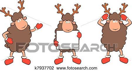 clipart weihnachten lustig hochwild k7937702 suche. Black Bedroom Furniture Sets. Home Design Ideas