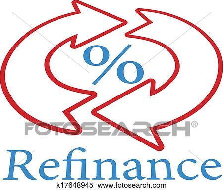 Clipart of Refinance home mortgage loan icon symbol k17648945 ...