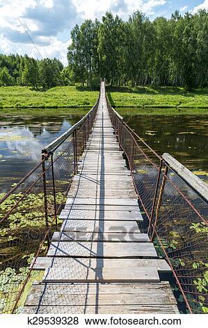 Подвесной мост через реку 19
