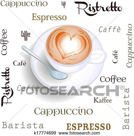 Clip Art of Background cappuccino k17774699 - Search Clipart ...