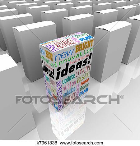 Banque d 39 illustrations beaucoup bo tes de id es for Idee innovation produit