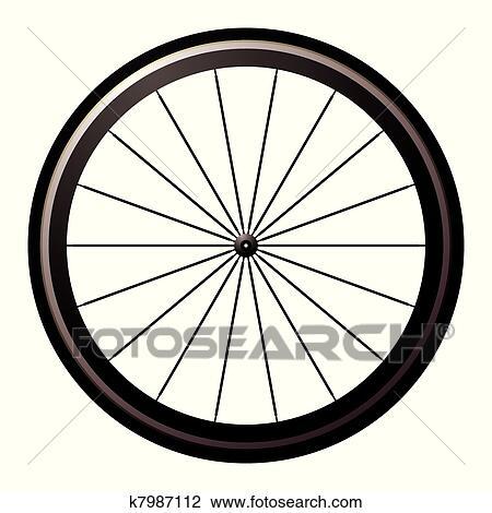 clipart of bike road wheel k7987112 search clip art illustration rh fotosearch com wheel clipart transparent steering wheel clipart