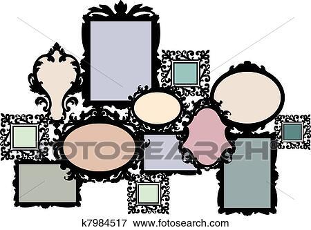 clip art leer bilderrahmen satz k7984517 suche clipart poster illustrationen zeichnungen. Black Bedroom Furniture Sets. Home Design Ideas