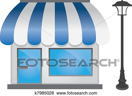 Clip Art of Store Front k7985028 - Search Clipart, Illustration ...