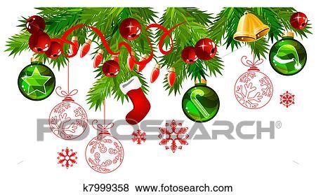 clip art weihnachten rahmen mit tannenzweige und. Black Bedroom Furniture Sets. Home Design Ideas