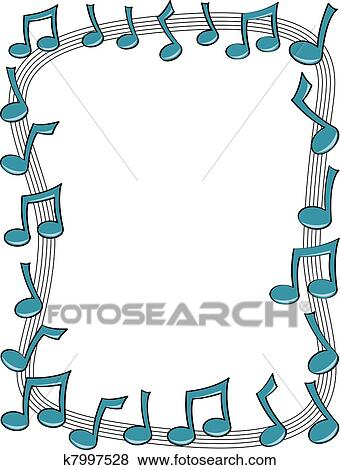 clip art of music note border k7997528 search clipart rh fotosearch com music note border clip art music note border clip art