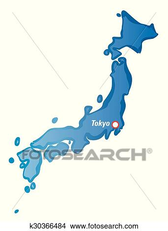 Clipart Of Drawing Map Of Japan And Tokyo K Search Clip - Japan map drawing