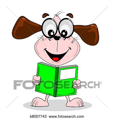 手绘图 - 卡通漫画, 狗