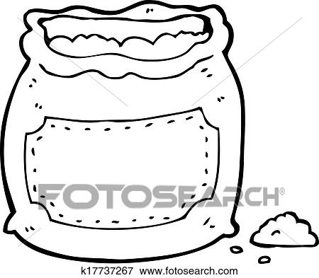 Clipart dessin anim sac farine k17737267 recherchez des cliparts des illustrations des - Coloriage farine ...