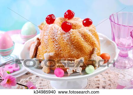 Kirsch kuchen deko