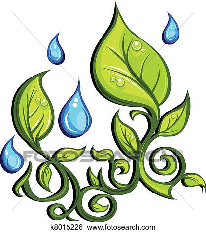 clip art of spring season leaves and rain drops k8015226 search rh fotosearch com  spring season clipart png