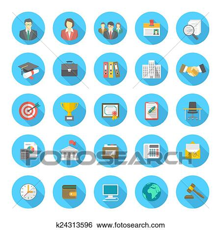 clip art of round flat resume icons k24313596 search clipart