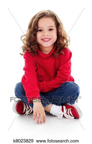 Stock fotografie schattig klein meisje k8023829 zoek stock fotografie posters beelden en - Foto slaapkamer klein meisje ...