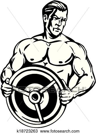 clipart of bodybuilding and powerlifting vector k18723263 rh fotosearch com