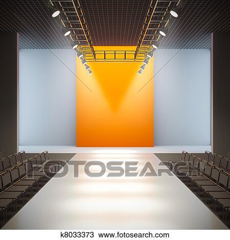 Drawing Of Fashion Empty Runway K8033373