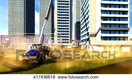 Stock illustration of construction site k17436618 search for Construction site wall mural