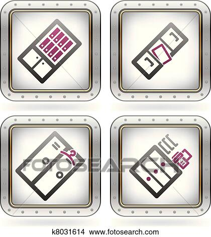 Bürobedarf clipart  Clipart - bürobedarf k8031614 - Suche Clip Art, Illustration ...