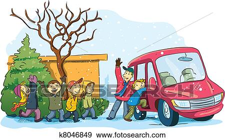 clip art of christmas holiday vacation k8046849 search clipart rh fotosearch com clipart vacation time clip art vacation images