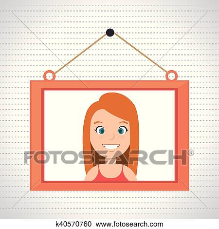 Hanging picture frame clipart
