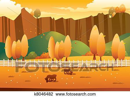 剪贴画 秋天风景