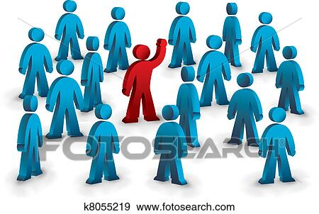 clip art of in the crowd k8055219 search clipart illustration rh fotosearch com crown clipart crown clipart png