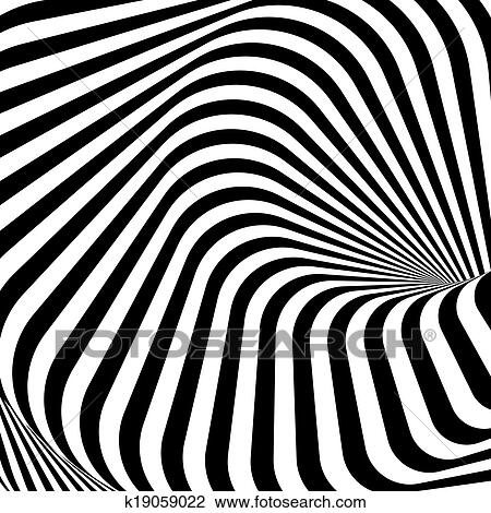 Clipart of Design monochrome whirlpool motion illusion background ...