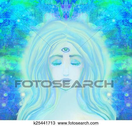 Troisieme Oeil Dessin Femme à Troisième Oeil