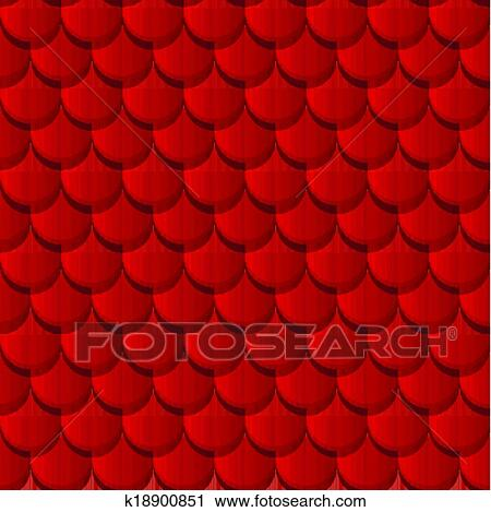 Clipart Of Red Clay Roof Tiles K18900851 Search Clip Art