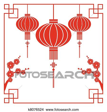 Clipart of chinese new year greeting card k8076524 search clip art clipart chinese new year greeting card fotosearch search clip art illustration murals m4hsunfo Choice Image