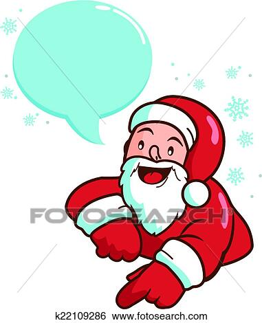 clip art of christmas santa claus k22109286 search clipart rh fotosearch com clipart of santa claus face clipart of santa claus black and white