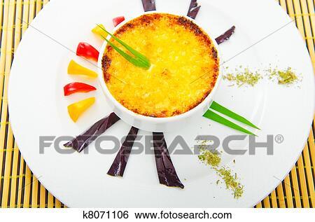 Stock Bilder - französische küche, -, schwammerl, en, cocotte ...   {Französische küche clipart 36}