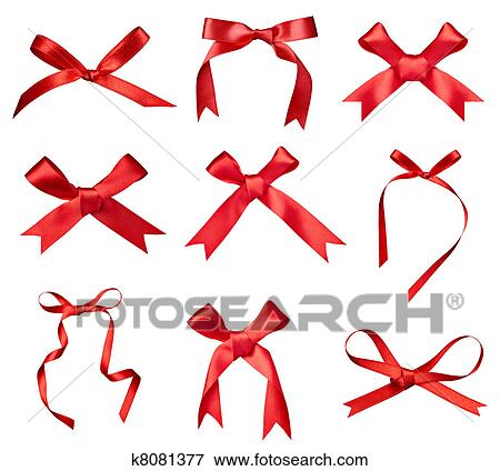 Picture of silk ribbon knot gift christmas birthday holiday ...