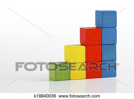 Stock Images Of Toys Blocks As Step Stair Multicolor Wooden