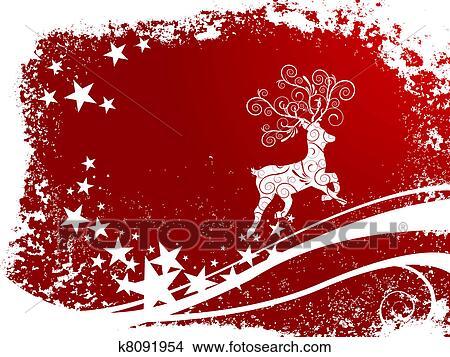 剪贴画 圣诞节, 鹿