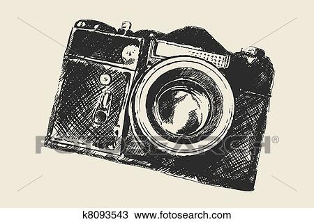 Clipart Of Old School Photography K8093543