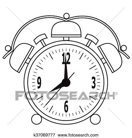剪贴画 - 闹钟, 恢复, 为, the, 指定, time.图片