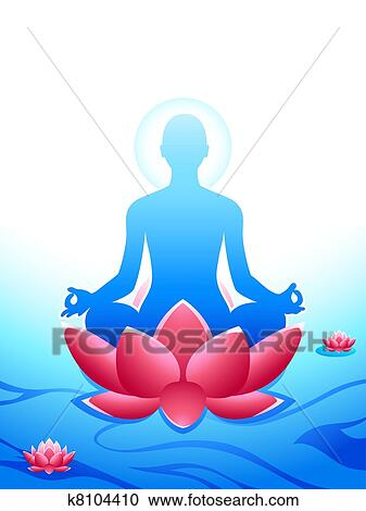 clipart of yoga meditation k8104410 search clip art